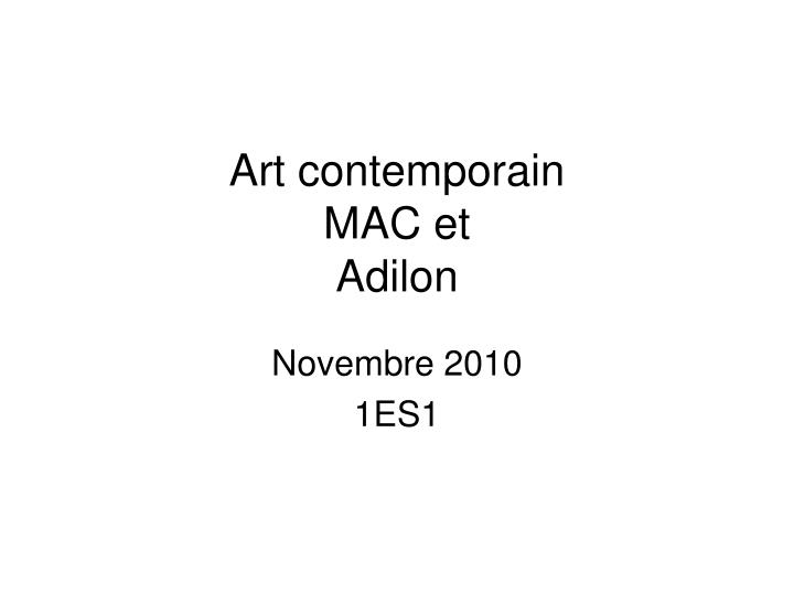 art contemporain mac et adilon n.