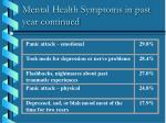mental health symptoms in past year continued
