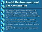 social environment and gay community