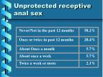 unprotected receptive anal sex