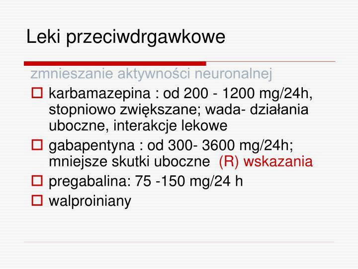 Leki przeciwdrgawkowe