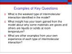 examples of key questions