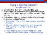 pogil is based on research people learn by