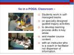 so in a pogil classroom