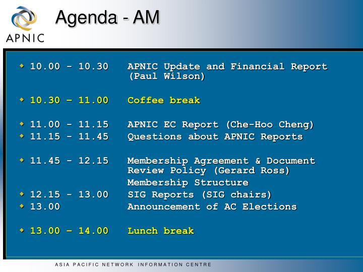 Agenda am