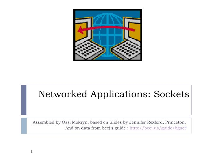 Networked applications sockets