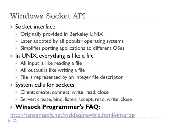 Windows Socket API