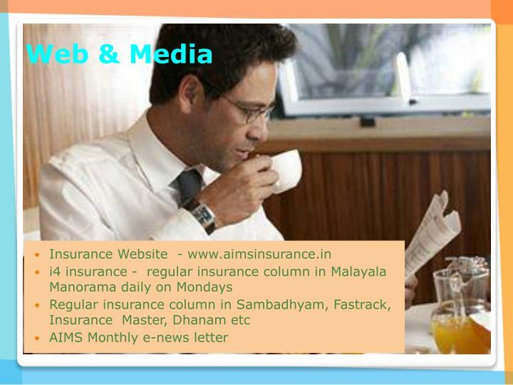 Insurance Website  - www.aimsinsurance.in