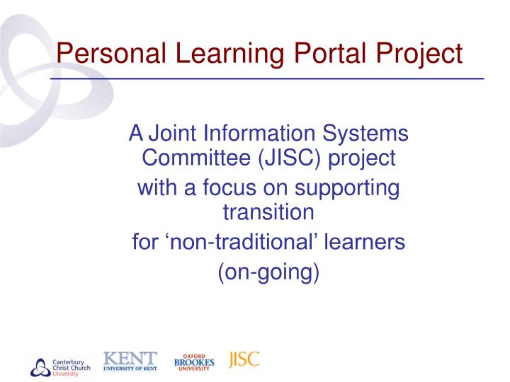 personal learning portal project n.