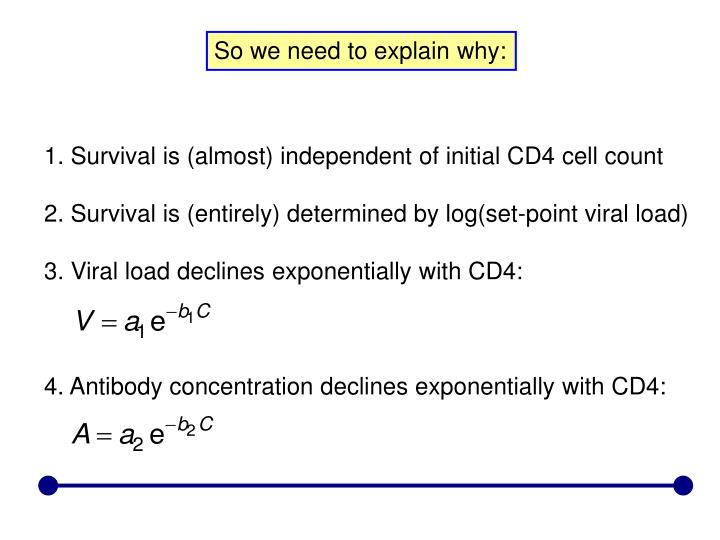 1. Survival is (almost) independent of initial CD4 cell count