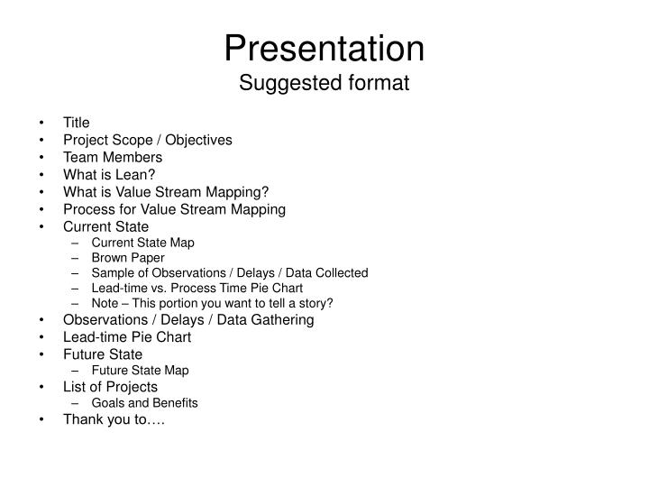 PPT - Presentation Suggested format PowerPoint Presentation