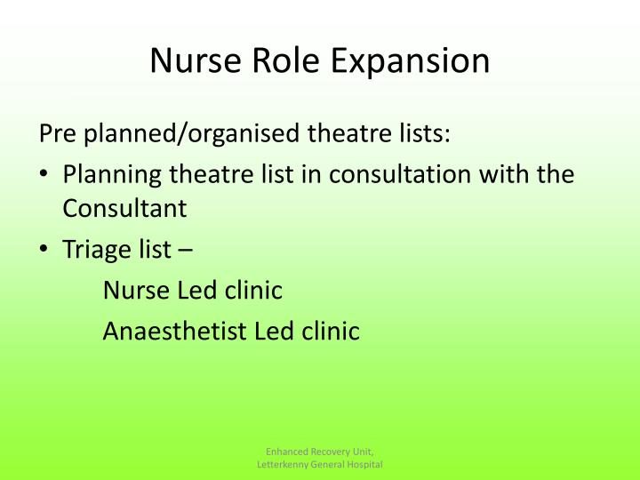 Nurse Role Expansion