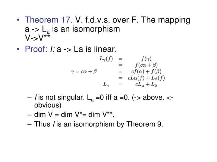 Theorem 17.