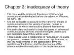 chapter 3 inadequacy of theory