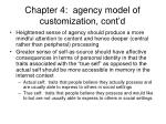 chapter 4 agency model of customization cont d