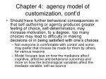chapter 4 agency model of customization cont d1