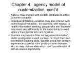 chapter 4 agency model of customization cont d2