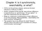 chapter 4 is it synchronicity searchability or what