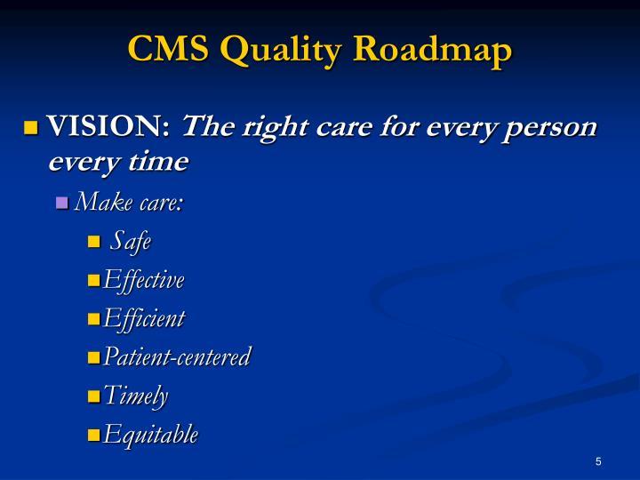 CMS Quality Roadmap