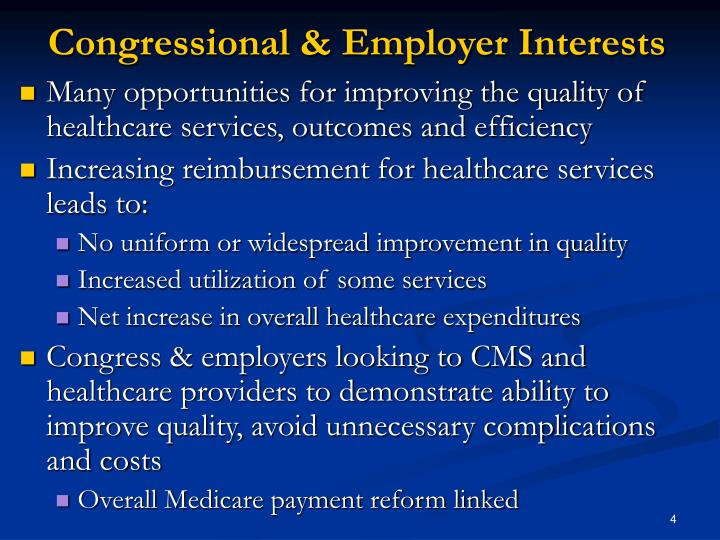 Congressional & Employer Interests