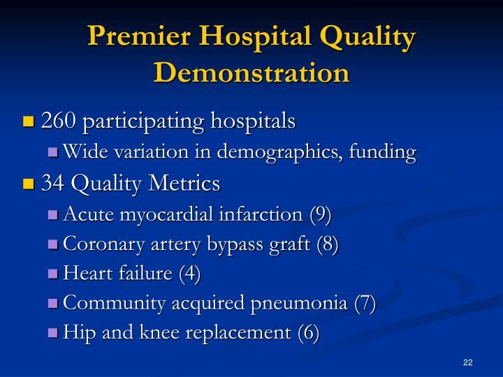 Premier Hospital Quality Demonstration