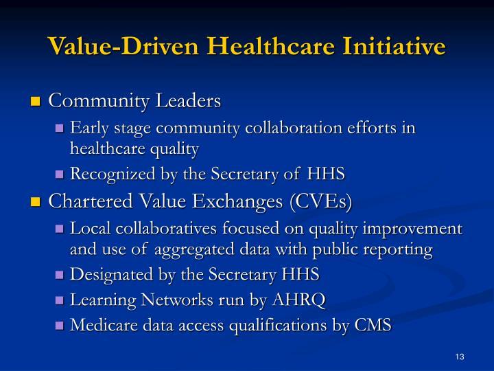 Value-Driven Healthcare Initiative