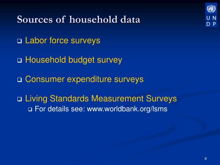 socio economic profile of househohold consumers
