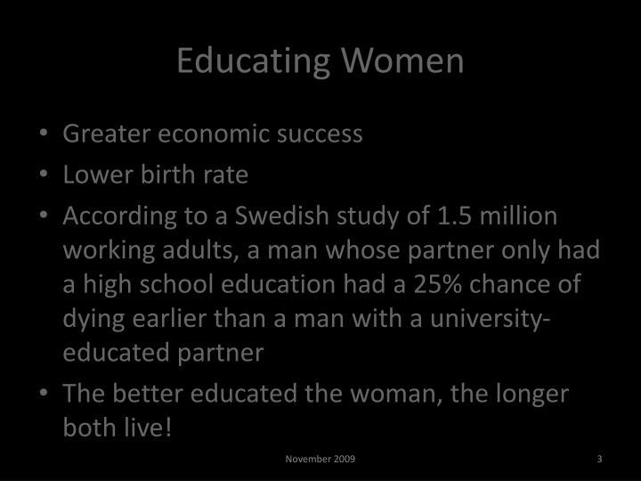 Educating women