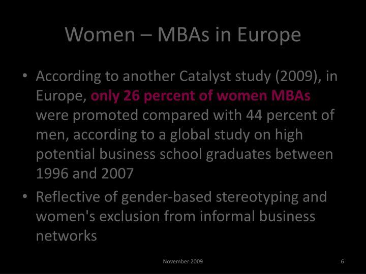 Women – MBAs in Europe