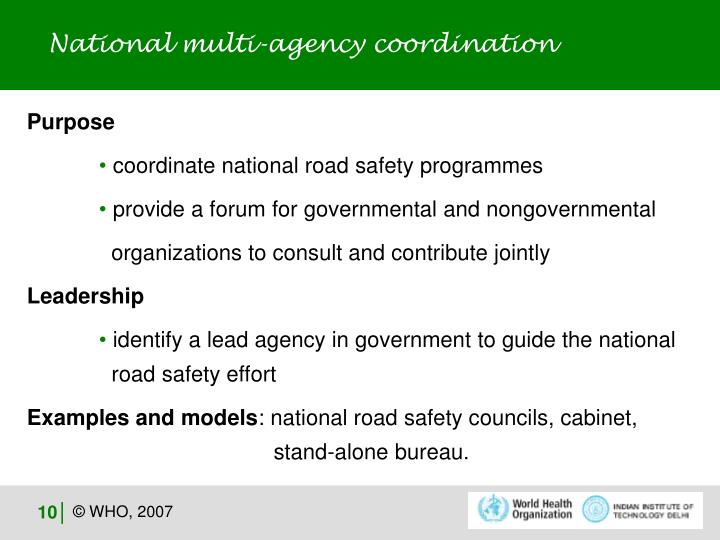 National multi-agency coordination