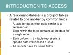 introduction to access1