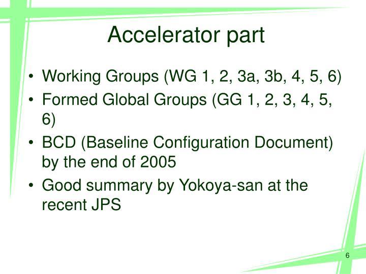Accelerator part