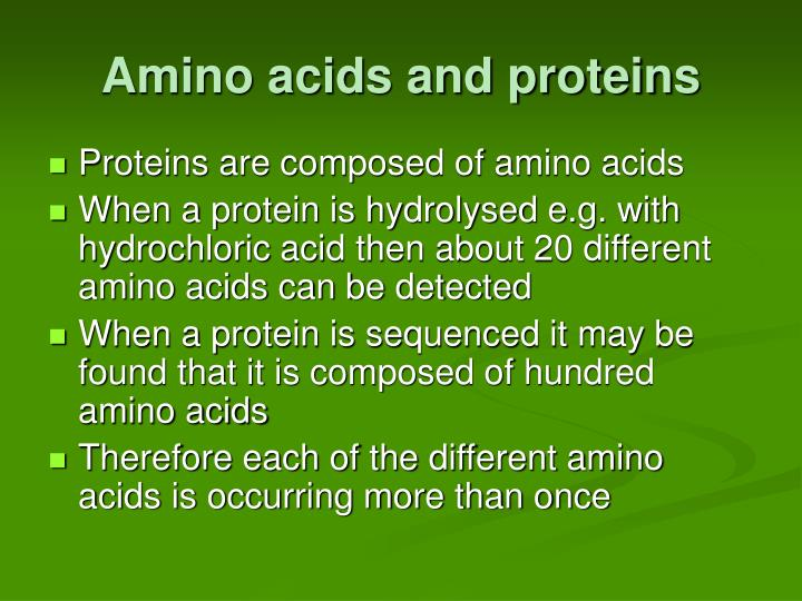 Amino acids and proteins1