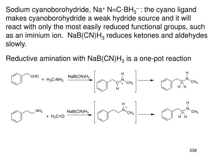 Sodium cyanoborohydride, Na