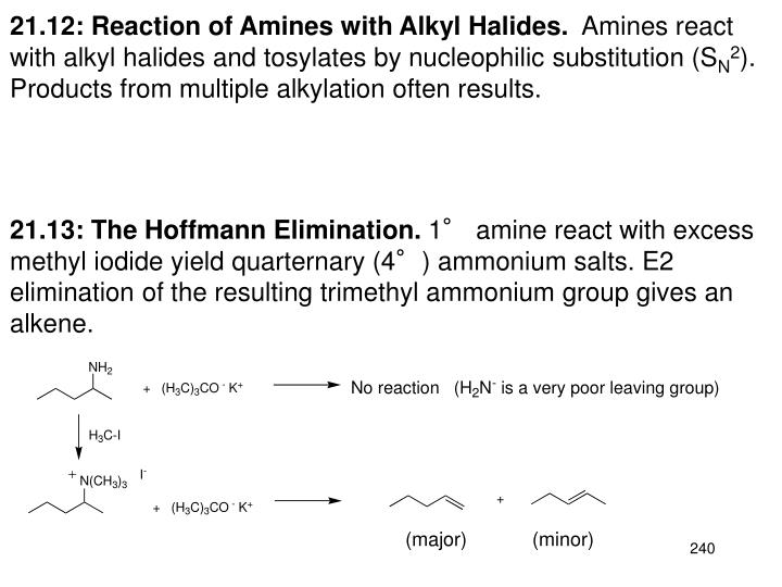 21.12: Reaction of Amines with Alkyl Halides.