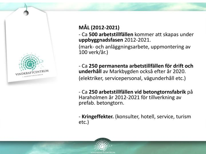MÅL (2012-2021)