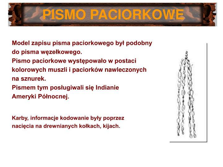 PISMO PACIORKOWE