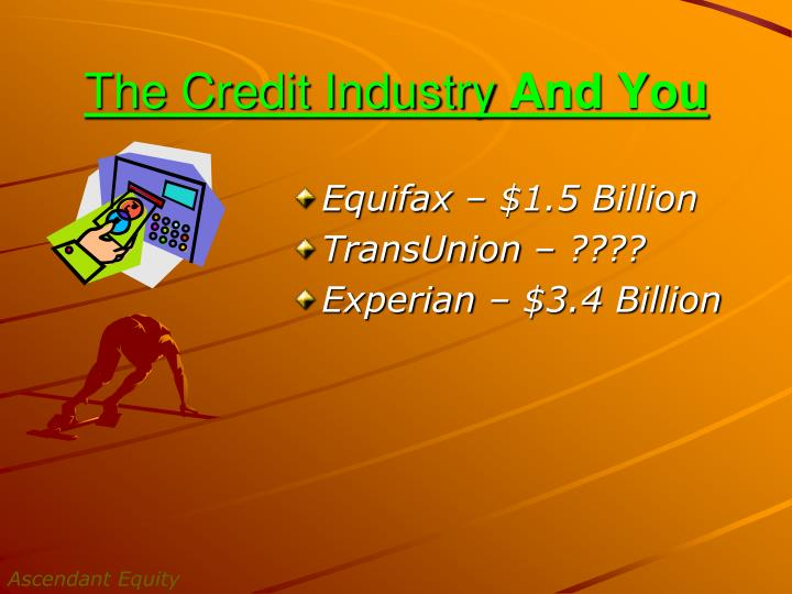The Credit Industry
