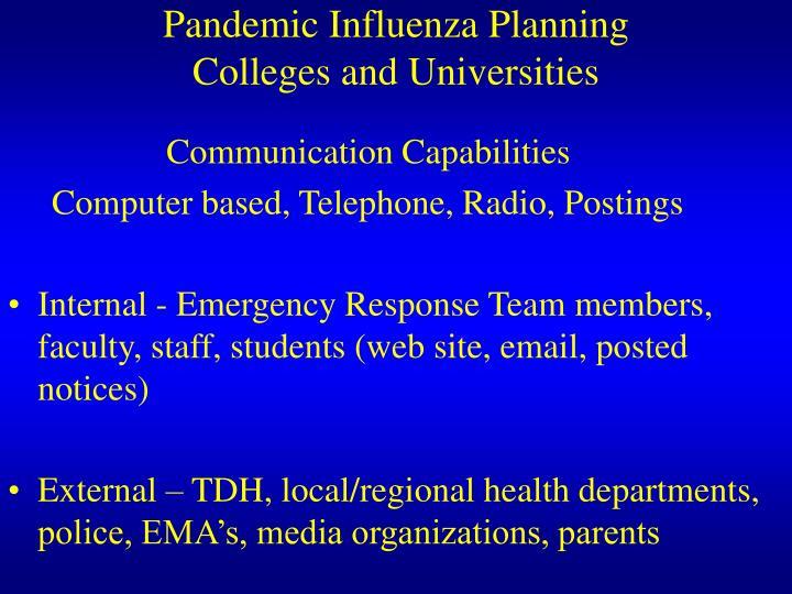 Pandemic Influenza Planning