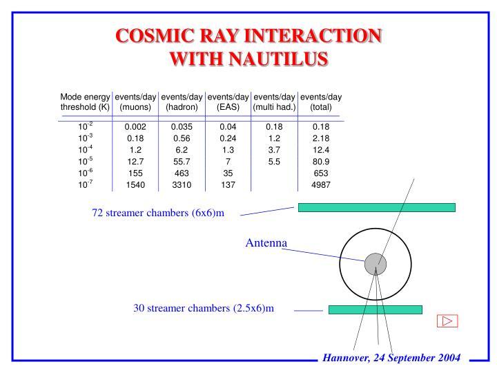 COSMIC RAY INTERACTION