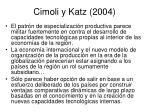 cimoli y katz 2004