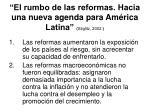 el rumbo de las reformas hacia una nueva agenda para am rica latina stiglitz 2002
