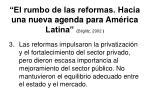 el rumbo de las reformas hacia una nueva agenda para am rica latina stiglitz 20021