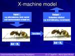 x machine model