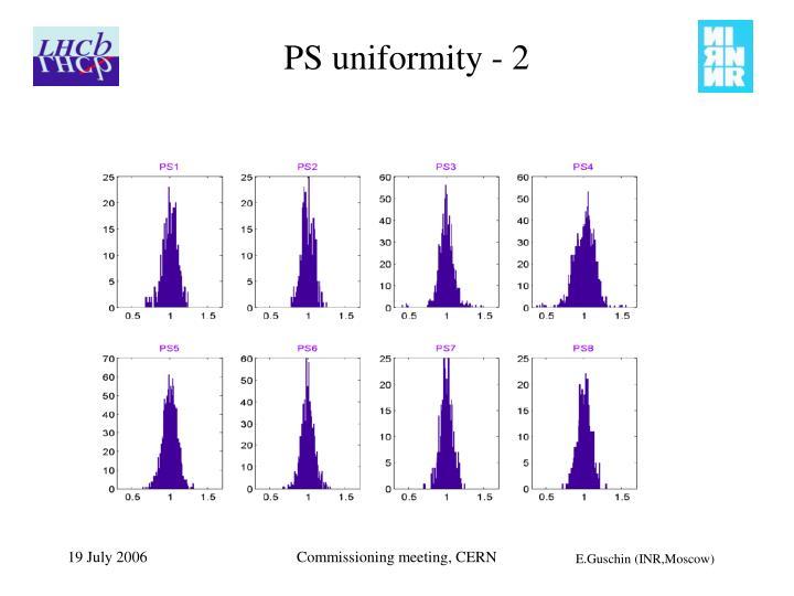 PS uniformity - 2