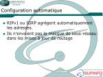 configuration automatique