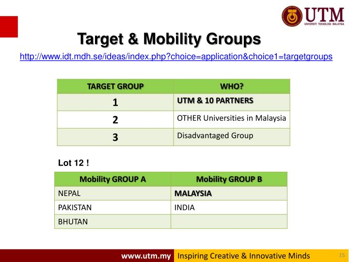 Target & Mobility Groups