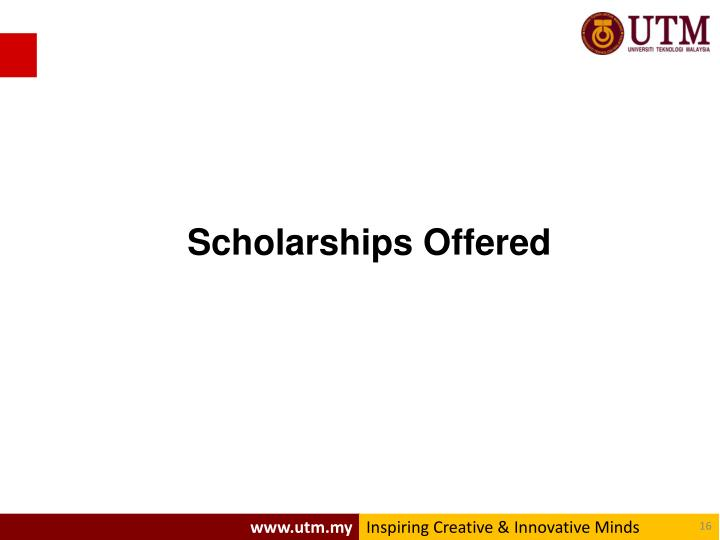 Scholarships Offered