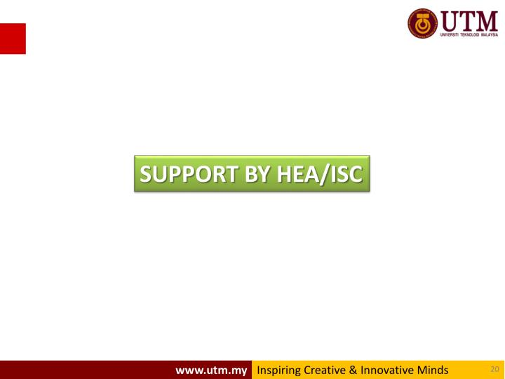 SUPPORT BY