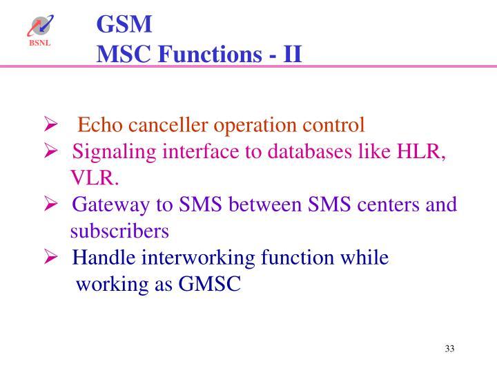 Echo canceller operation control